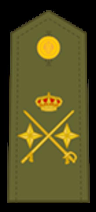Divisional general - Army general de división