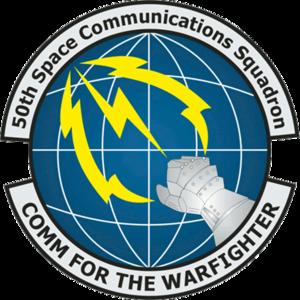 50th Space Communications Squadron - 50 SCS emblem