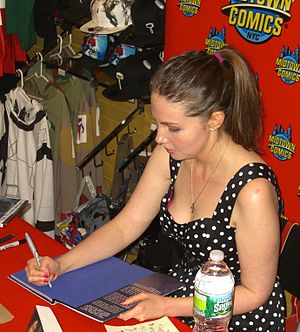 Marjorie Liu - Liu at a June 29, 2011 book signing at Midtown Comics Times Square in Manhattan.