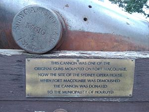 64 pounder gun information plaque Mays Hill NSW.jpg