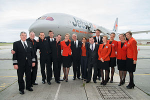 Aircrew - The aircrew of a Jetstar Airways Boeing 787