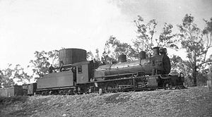 Midland Railway of Western Australia - A26 at Gingin in 1943