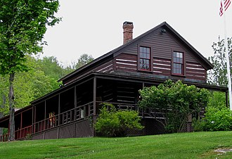 National Register of Historic Places listings in Hamilton County, New York - Image: ADK Museum Log Hotel