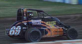 A. J. Fike - Fike's midget car in 2008