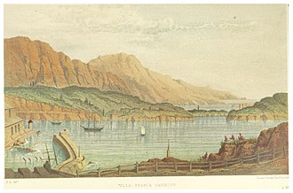 Villefranche-sur-Mer - Image: ALFORD(1870) p 067 VILLA FRANCA HARBOUR