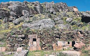 Huaytará District - The archaeoloical site of Inka Wasi in the Huaytará District