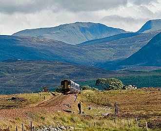 West Highland Line - A train to Fort William crossing Rannoch Moor