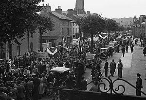 Plaid Cymru - A Plaid Cymru rally in Machynlleth in 1949