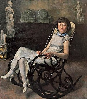 1930 in art - Image: A Portrait of Sun Duoci by Xu Beihong