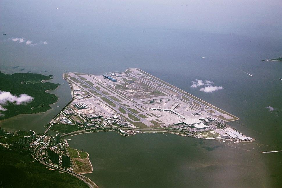 A bird's eye view of Hong Kong International Airport