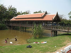 A bridge over Siem Reap River