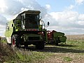 A combine harvester parked in a field - geograph.org.uk - 550647.jpg