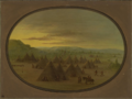 A crow village of skin tents on the salmon river.PNG