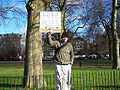 A regular 'FREE HUGS' dispenser, Speaker's Corner, Hyde Park, London.jpg
