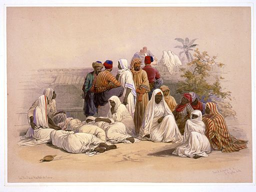A slave market in Cairo-David Roberts