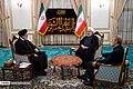 A trilateral meeting of Hassan Rouhani, Ebrahim Raisi and Ali Larijani.jpg