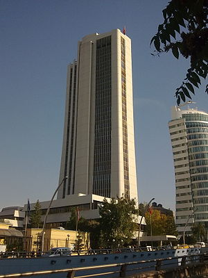 A view of the BDDK building, Atatürk Avenue in Ankara