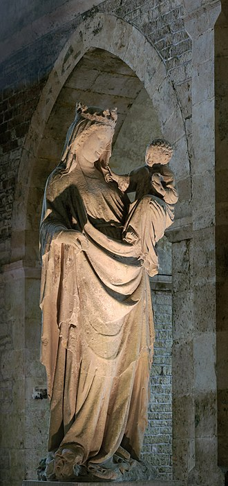 Abbey of Fontenay - The Virgin of Fontenay