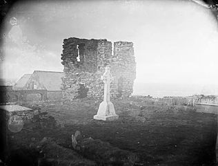 Abbey ruins on Bardsey