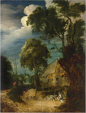 Abraham Govaerts - Wooded Landscape with Figures