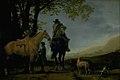 Abraham van Calraet - Two Horsemen in a Landscape - KMSsp410 - Statens Museum for Kunst.jpg