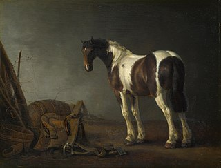 A Horse with a Saddle Beside it