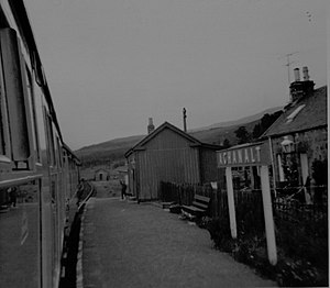 Achanalt - Image: Achanalt railway station, Scotland in 1970