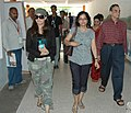 Actress Mahima Chowdhury and the Director Ms. Tanuja Chandra arriving at Kala Academy for a press conference during the ongoing 37th International Film Festival (IFFI-2006) in Panaji, Goa on November 30, 2006.jpg