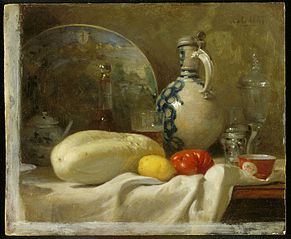 Still Life with a Cucumber and a Pitcher