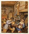 Adriaen van Ostade - Boeren aan een tafel in een herberg.jpg