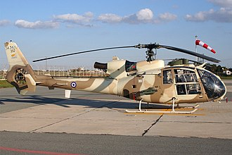 Cypriot National Guard - Aerospatiale SA-342L1 Gazelle of the Air Force Command.