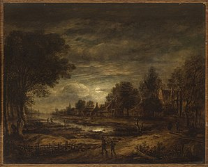Moonlight on a Canal