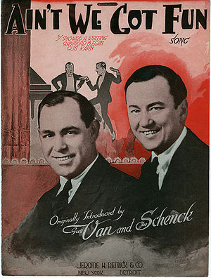 Ain't We Got Fun - Cover page to the sheet music.