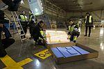 AirBaltic Bombardier CS300 mainenance (32838486880).jpg