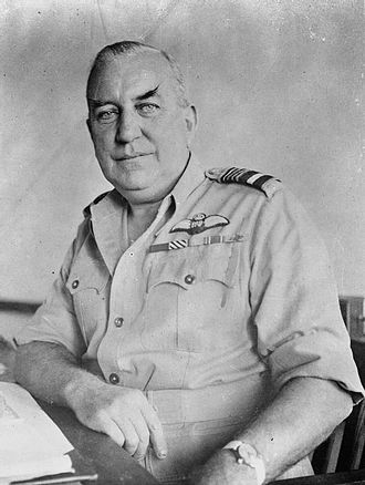 Albert Durston - Air Marshal Durston, Air Officer Commanding No. 222 Group, at Colombo, Ceylon, during the Second World War.