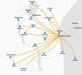 Air Tanzania Destination Map.png