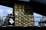 Airmen deploy to deliver Ebola treatment facility with US relief package 140926-F-KB808-014.jpg