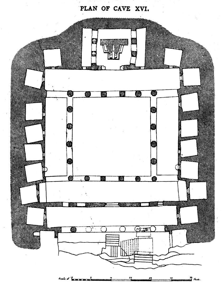 Ajanta Cave 16 plan