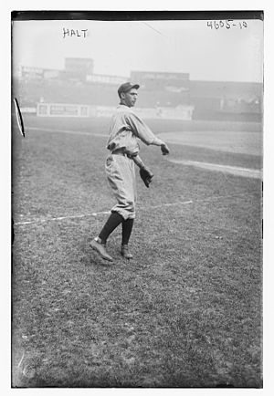 Al Halt - Image: Al Halt, Cleveland AL in 1918