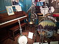 Al Jolson's Hobart M. Cable Company Piano, Banjo, Wind instruments by C.G. Conn and Holton, Drum-kit, early 20th century, Museum of Making Music.jpg