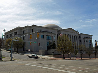 The Heflin-Torbert Judicial Building in Montgomery. It houses the Supreme Court of Alabama, Alabama Court of Civil Appeals, and Alabama Court of Criminal Appeals. Ala Supreme Court Building Feb 2012 01.jpg