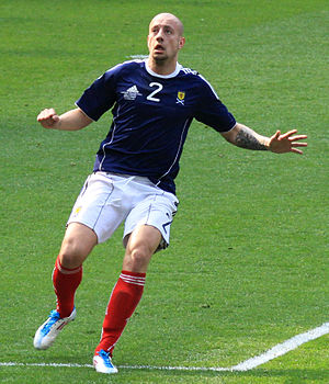 Alan Hutton - Hutton playing for Scotland in 2011