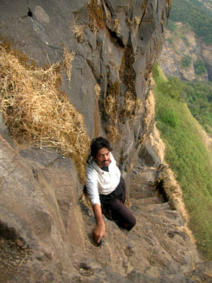 Alang Fort - Image: Alang Steps