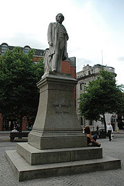 Grade II listed statue in Albert Square, Manchester