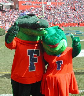 The University of Florida's mascots, Albert and Alberta