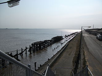 Hull Blitz - Remains of the burnt out Riverside Quay (2011)