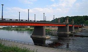 Aleksotas - Vytautas the Great Bridge with view of Aleksotas hill