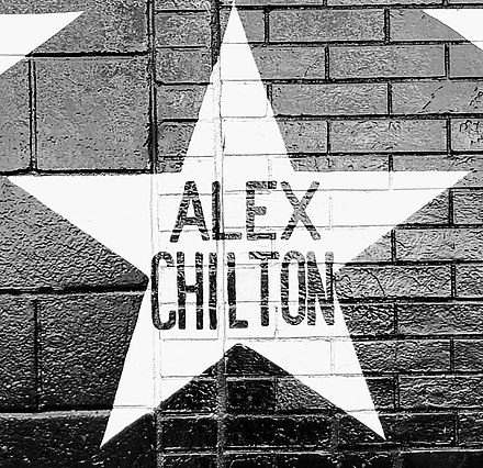 Star honoring Alex Chilton on the outside mural of the Minneapolis nightclub First Avenue Alex Chilton - First Avenue Star.jpg