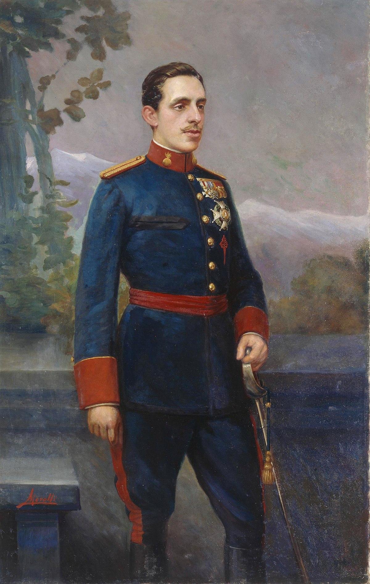 File:Alfonso XIII, con uniforme de capitán general de ...