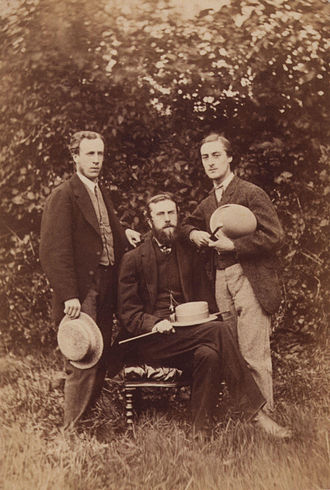 Gerard Manley Hopkins - Alfred William Garrett, William Alexander Comyn Macfarlane and Gerard Manley Hopkins (left to right) by Thomas C. Bayfield, 1866